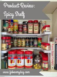 product review spicy shelf space saving cabinet spice organizer