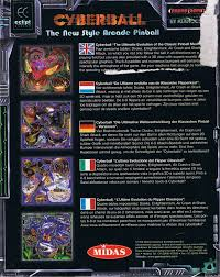 si e pour le dos cyberball 1998 dos box cover mobygames