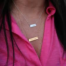 personalized bar necklace custom sted medium personalized bar necklace gosia meyer
