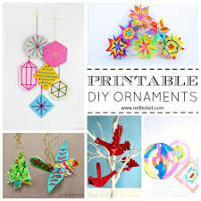 paper christmas ornament diy ideas red ted art u0027s blog