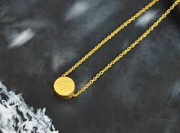 girl with gold necklace images Coin necklace simple necklace modern necklace girls necklace jpg