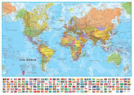 world map political with country names world maps international political wall map large paper stanfords