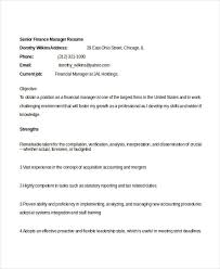 Sample Resume For Finance Manager by Sample Resume Of Manager Finance Makingbeck Ga