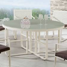 orlando round dining table b w silk printed glass top