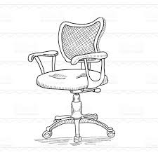 Office Chair Vector Side View Beautiful Office Chair Drawing Drawn Hand To Design Inspiration