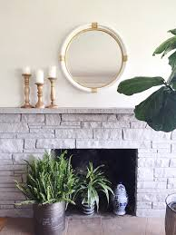 stone fireplaces pictures painted stone fireplace makeover the inspired room
