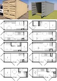shipping container architecture plans in 20 foot shipping