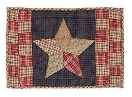 quilted and non quilted placemats at primitive quilt shop