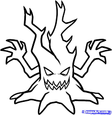 Halloween House Coloring Pages by