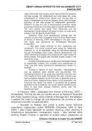 Leasing Agent Sample Resume by Smart Retrofit For An Unsmart Bangalore City Ver 15 Sept 2015 A5