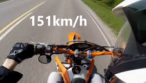 ktm exc 125 0 100km h and top speed youtube