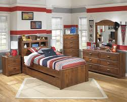 Full Bookcase Signature Design By Ashley Barchan Twin Bookcase Bed With Underbed
