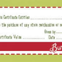 christmas gift certificate template free christmas decore
