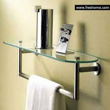 Bathroom Glass Shelves With Towel Bar Glass Shelf Towel Bar Freshome