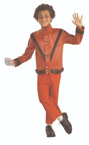 Michael Jackson Halloween Costume Kids Deluxe Thriller Michael Jackson Red Jacket Halloween Costume Child