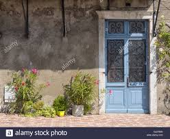 france french old blue home door architecture vintage traditional