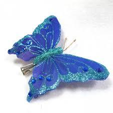 butterfly hair blue glitter butterfly hair clip