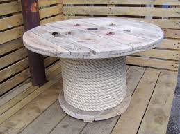 outdoor tables made out of wooden wire spools table made from wooden cable reel spool idea cut bottom spool