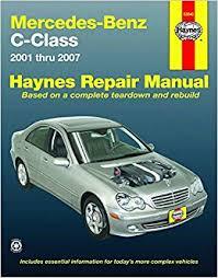 car repair manuals online free 2009 mercedes benz clk class engine control mercedes benz c class 2001 thru 2007 automotive repair manual