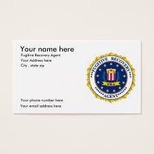 fugitive recovery business cards zazzle enforcement