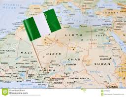Beirut On Map Nigeria Flag Pin On Map Stock Photo Image 67800499