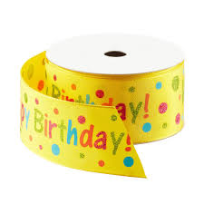 wired ribbon yellow happy birthday wired ribbon the container store