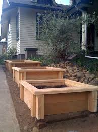 33 best wood planter tree box images on pinterest wood planters