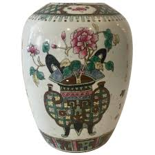 jar vase 19th century famille melon jar vase for sale at 1stdibs