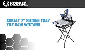 KOBALT TOOLS 7 IN SLIDING TRAY TILE SAW W STAND
