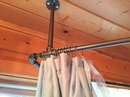 Shower Curtain Clawfoot Tub Solution Used Black Iron Piping To Create A Shower Curtain Rod That
