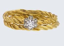 interlocking engagement ring wedding band unique engagement rings wedding bands from etsy 18k gold