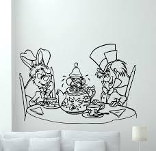 alice in wonderland wall decal rabbit hatter vinyl sticker alice in wonderland wall decal rabbit hatter vinyl sticker cartoons mural 19crt