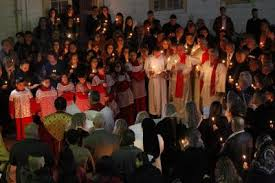 baghdad u0027s christians gather defiantly for christmas eve mass