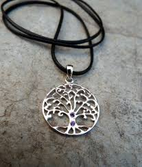 sterling silver handmade necklace images Amethyst tree of life sterling silver handmade pendant jpg