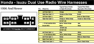 car radio wiring radio wiring colors for isuzu car diagram 2004