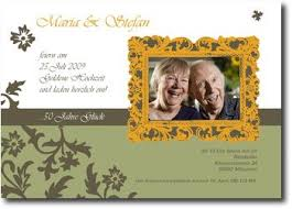 einladungskarten goldene hochzeit mit foto einladungskarten goldene hochzeit sajawatpuja