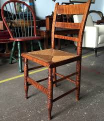 maple dining chairs american tiger maple chair c 1800 brutal vintage
