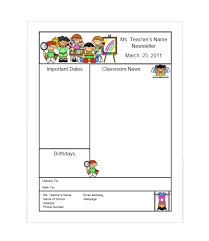 50 free newsletter templates for work and classroomteacher