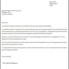 Resignations Letter Template Resignation Letter Format For Personal Reason Sample Cv 2017