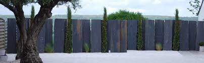 deco entree exterieur aménagement paysager et décoration en ardoise par côté déco