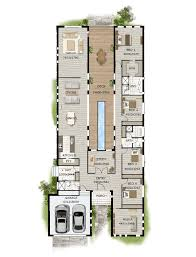 floor plan friday pool in the middle narrow block modern houses