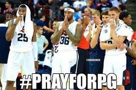 Paul George Memes - usa basketball all praying for paul george prayforpg http