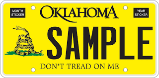 Gadsden Flag History Oklahoma Tax Commission Special Interest Plates