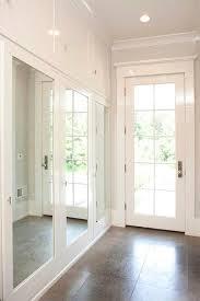 Closet Mirrored Doors Mudroom With Mirrored Closet Doors Transitional Laundry Room