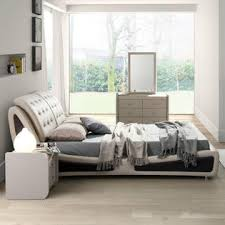 Beige Upholstered Bed Greenhome123 Modern Light Brown Tan Beige Faux Leather Upholstered