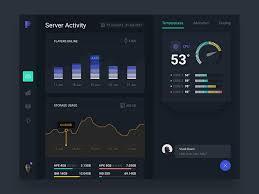 Two Dark Ui - server monitoring app for ipad dark version dashboard design