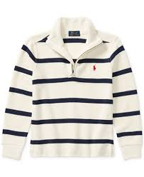 ralph striped half zip sweater toddler boys 2t 5t
