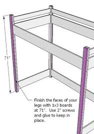 Build Your Own Loft Bed Free Plans by Kids Loft Bed Woodworking Plans Woodshop Plans