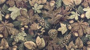 Tapestry Fabrics Upholstery Forest Floor Oak Leaf Upholstery Fabric Mountain Lodge Rustic