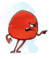 angry berry cartoon